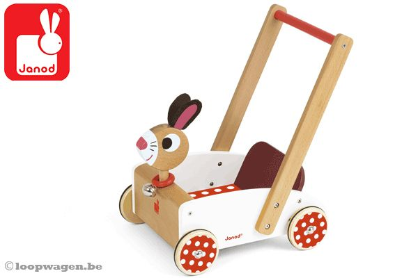 Janod loopwagen Crazy rabbit.