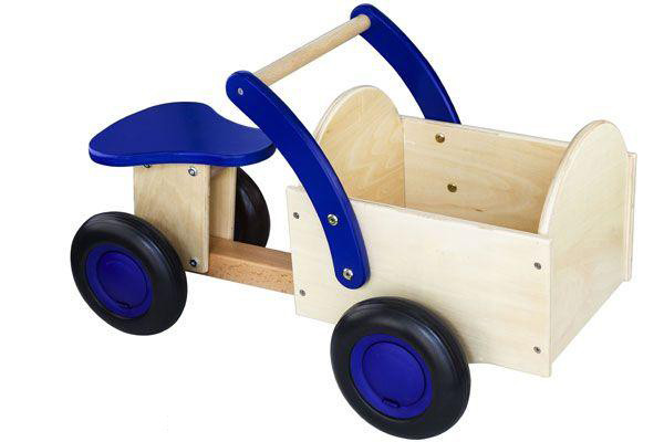Classic bakfiets blauw-blank